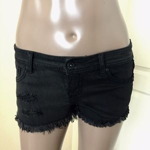 NWT Hot Topic Cut Off Lace Distressed Jean Shorts